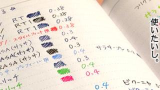 嬉しい話。2015年のマークスのEDiTはペンを選ばず裏写りを気にせず使えるかも。