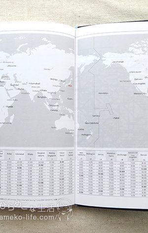 世界地図/時差表