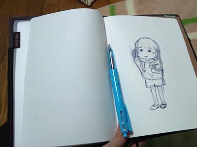無印良品「絵本ノート」のいい書き方見つけた