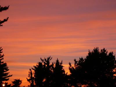 御所の台オートキャンプ場からの夕焼け