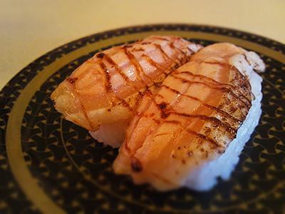 はは寿司の炙りサーモン