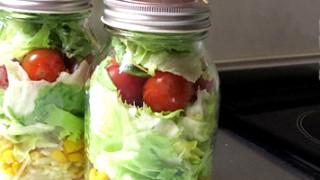 我が家のジャーサラダ事情。そこそこ保存がきく生野菜サラダの作り方。