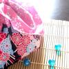 浴衣や甚平のお供に。100円ショップの和柄てぬぐいで巾着を作ってみました。