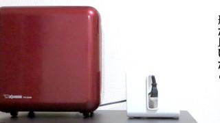 象印の赤い空気清浄機PA-DA08。小さいけれど充分な機能に満足してます。