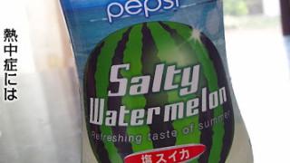 ペプシの塩スイカ味飲んだ。