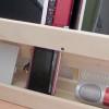 デスク周りを広く使うために。100円ショップのスノコを使ってスリムなラック(収納棚)を作りました。